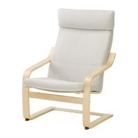 ПОЭНГ Подушка-сиденье на кресло - Финнста белый  - IKEA