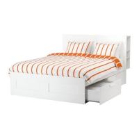 БРИМНЭС Каркас кровати с изголовьем - 140x200 см  - IKEA