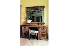 Туалетный столик+зеркало с надстройкой ЮрВит Эдельвейс