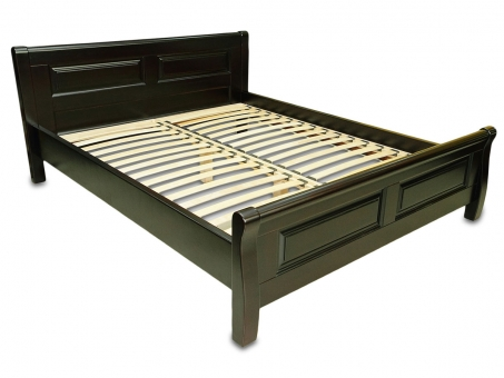 Double wooden bed Laura 160x200 cm (3 color) MVS