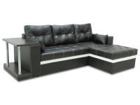 Раскладной угловой диван МВС Барселона дельфин (Itaka Nero/Itaka White)