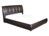 Двуспальная кровать с мягким изголовьем МВС Лючия 160х200 см (Gerra Dark Brown)