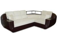 Раскладной угловой диван МВС Инфинити дельфин (Trinity 01 Cream/Gerra Dark Brown)