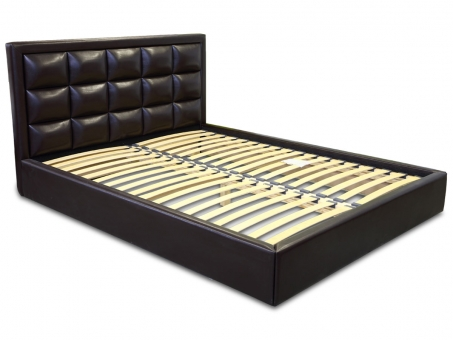 Двуспальная кровать с мягким изголовьем МВС Итака 160х200 см