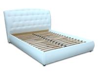 Двуспальная кровать с мягким изголовьем МВС Романья 160х200 см
