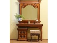Стол туалетный+зеркало с надстройкой ЮрВит Камелия