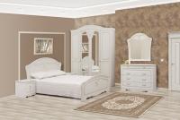 Спальня СМ Луиза 4Д, белое дерево