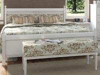 Двуспальная деревянная кровать с мягким изголовьем Мебус Марсель Текстиль 160х200 см