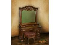 Туалетный столик однотумбовый+зеркало с надстройкой ЮрВит Орхидея