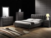 Двуспальная кровать с мягким изголовьем Halmar Samara 160х200 см