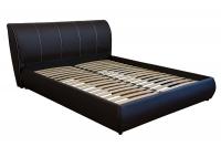 Двуспальная кровать с мягким изголовьем МВС Афина 160х200 см (Madrit 095/Rainbow Gold)