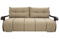 Розкладний диван Корнет з дерев'яними підлокітниками єврокнижка МВС