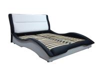 Двуспальная кровать с мягким изголовьем МВС Волна 160х200 см