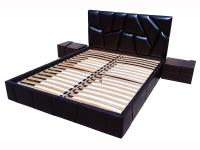 Двуспальная кровать с мягким изголовьем МВС Пальмира 160х200 см