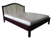 Двуспальная деревянная кровать с мягким изголовьем МВС Грейс 160х200 см (цвет 2)