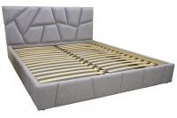 Двоспальне ліжко з м'яким узголів'ям Пальміра 160х200 см МВС