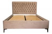 Double bed with soft headboard Scarlett LA FAMILIA