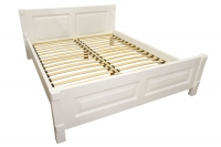 Double wooden bed Sofia 160x200 cm white MVS