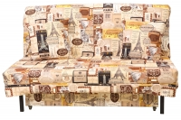 Раскладной диван аккордеон МВС Тенерифе с тканевой спинкой (Цена от)
