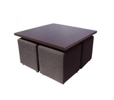 Комплект Тет-а-Тет 4 пуфа і журнальний столик МВС