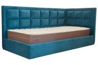 Кутове односпальне ліжко Ітака